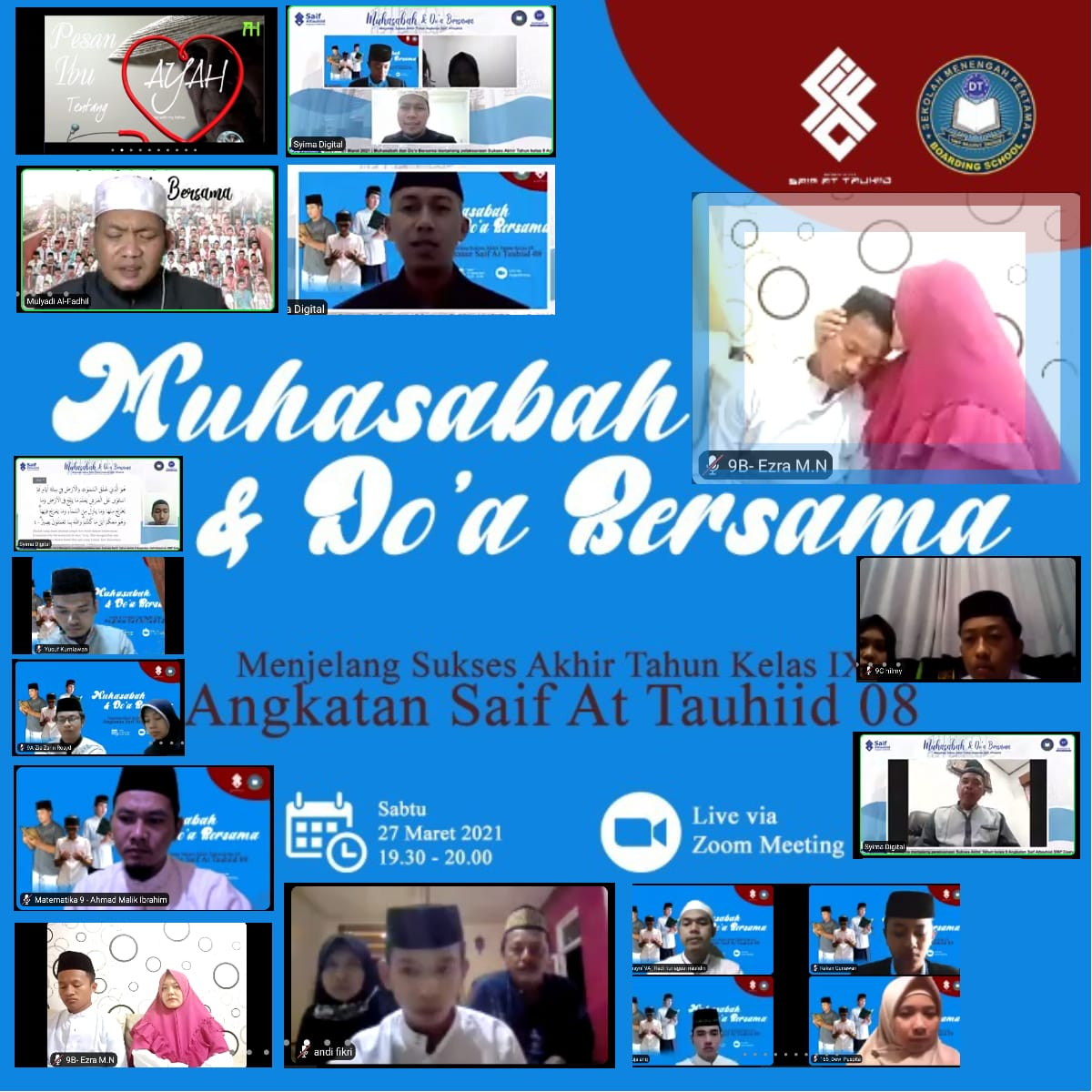 Jelang Ujian Sekolah, SMP Daarut Tauhiid Boarding School Gelar Muhasabah dan Doa Bersama